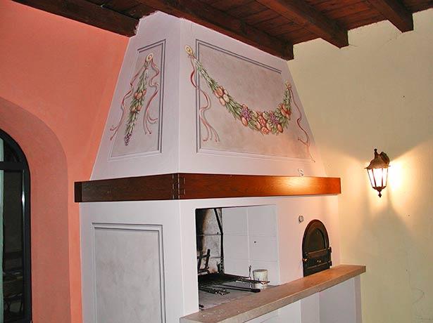 Lavorazioni decori a mano cornici boiserie rosoni - Decorazioni per camini ...